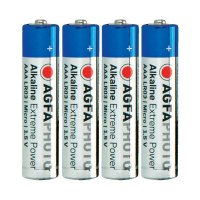 Alkalická baterie Agfaphoto, typ AAA, sada 4 ks