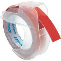 Páska do štítkovače DYMO S0898150, 9 mm, Prägeband, 3 m, bílá/červená