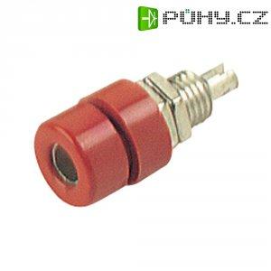 Laboratorní konektor Ø 4 mm SKS Hirschmann BIL 30 (930166101), zás. vest. vert., červená