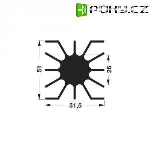 LED chladič Fischer Elektronik SK 46 20 SA, 51 x 20 x 51,5 mm, 2,15 kW