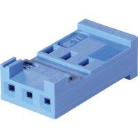 Pouzdro HE13/14 TE Connectivity 281838-6, zásuvka rovná, 2,54 mm, 3 A, modrá