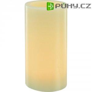 Dekorativní LED svíčka, 7,5 x 15 cm, slonová kost