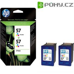 Cartridge do tiskárny HP C9503AE (57), cyanová, magenta, žlutá, 2 ks