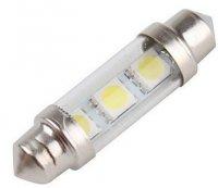 Žárovka LED SV8,5-8 sufit 36mm 12V / 1,3W bílá, 3xSMD5050 s ochranným