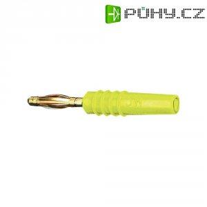 Lamelový konektor Ø 2 mm MultiContact 22.2618-24, zástrčka rovná, žlutá