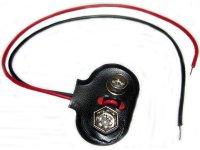 Kontakty na 9V baterii - klips, T typ, vývody 12cm