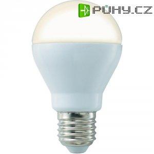 LED žárovka Basetech, E27, 8 W, 230 V, teplá bílá