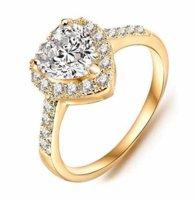 Prsten Srdíčko zlatá barva 57mm