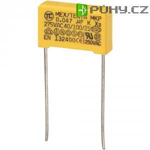 Foliový kondenzátor MKP, 0,047 µF, X2 275 V/AC, 10 %, 18 x 5 x 11 mm