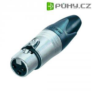 XLR kabelová zásuvka Neutrik NC3FXX, rovná, 3pól., 3,5 - 8 mm, stříbrná