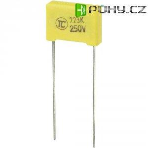 Foliový kondenzátor MKS, 0,022 µF, 250 V, 5 %, 13 x 4 x 9 mm