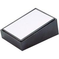 Pultové pouzdro plastové TEKO, (d x š x v) 160 x 95 x 31/62 mm, černá;stříbrná (PULT 103)