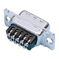 D-SUB kolíková lišta Amphenol 717D E09P ST, 9 pin