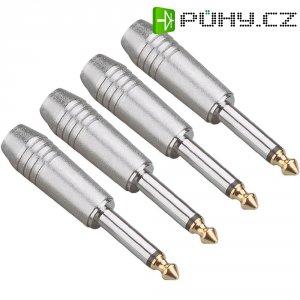 Kabelový konektor jack (M) 6,3 mm, sada 4 ks