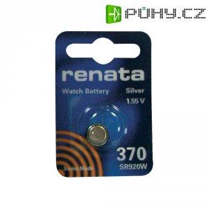 Knoflíková baterie na bázi oxidu stříbra Renata SR69, velikost 370, 40 mAh, 1,55 V