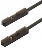 Měřicí kabel zásuvka 0,64 mm SKS Hirschmann MKL 0,64/25-0,25, 0,25 m, černá