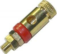 Svorka kovová zlacená,červený proužek, závit 16mm