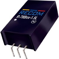DC/DC měnič Recom R-78B5.0-1.5L (80099196), výstup 5 V/DC / 1,5 A, vstup 7 - 18 V/DC, SIP 3, 90°