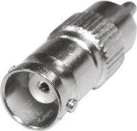 Cinch / BNC adaptér SpeaKa Professional 325202 SP-1300808, [1x cinch zástrčka - 1x BNC zásuvka], stříbrná