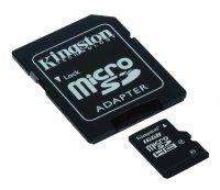 Karta paměťová KINGSTON Micro SDHC 16GB Class 4 + adaptér