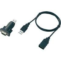 Adaptér USB 2.0, sériový, 9-pinový, černý