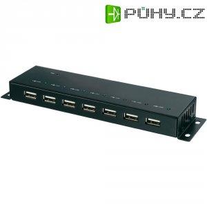 USB 2.0 hub, kovový, 7portový