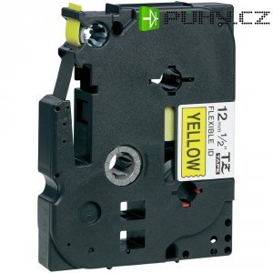 Páska do štítkovače Brother TZe-FX631, 12 mm, TZe-FX, TZ-FX, 8 m, černá/žlutá