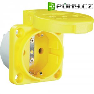 Žlutá zásuvka s ochranným kontaktem