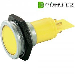 LED signálka Slimline Signal Construct SMFP30H1289, 230 V, žlutá