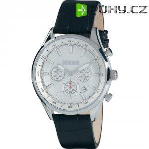 Ručičkové náramkové hodinky Eurochron Chrono 900 Quartz, kožený pásek, stříbrná