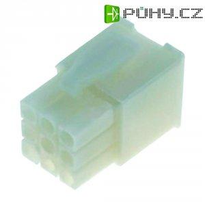 Pouzdro TE Connectivity 172171-1, zástrčka rovná, 600 V/AC, přírodní