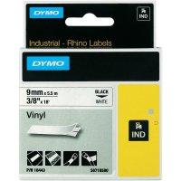 Páska do štítkovače DYMO 18443 (S0718580), 9 mm, IND RHINO, 5,5 m, černá/bílá