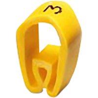 Označovací objímka PMH 3: číslice 3 žlutá Phoenix Contact Množství: 50 ks