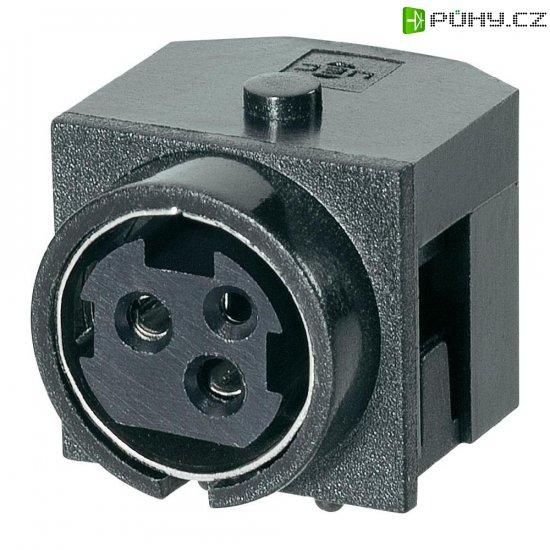 Vestavná síťová zásuvka BKL Electronic, 20 V, 7,5 A, horizontální, černá, 0211003 - Kliknutím na obrázek zavřete