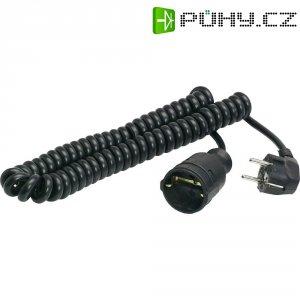 Prodlužovací spirálový kabel AS Schwabe, 2,5 m, černá