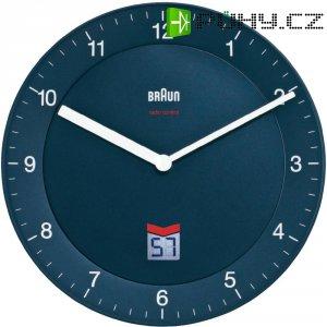 Analogové DCF nástěnné hodiny Braun, Ø 20 cm,modrá