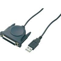 Adaptér USB 2.0 paralelní/paralelní, 25-pinový, šedý, 1 ,8 m