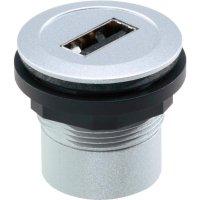 USB vestavný adaptér Schlegel RRJ_USB_AB, IP65, zásuvka Typ A  zásuvka Typ B, kov