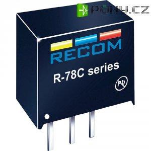 DC/DC měnič Recom R-78C12-1.0 (80000044), výstup 12 V/DC / 1 A, SIP 3