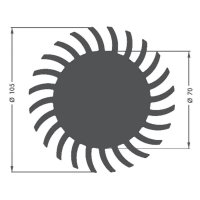 LED chladič Fischer Elektronik SK 584 20 SA 10021655, 1.75 K/W, (Ø x v) 105 mm x 20 mm