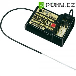 Přijímač Sanwa RX-451R, 2,4 GHz, 4 kanály, JR