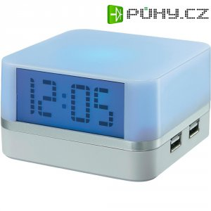 USB hub s hodinami