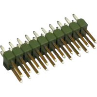 Kolíková lišta MOD II TE Connectivity 826925-5, přímá, 2,54 mm, zelená