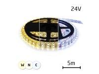 LED pásek 24V 3527 120LED/m IP66 max. 9,6W/m variabilní (W+N+C), (1ks=cívka 5m)
