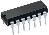 74HCT93 - 4bitový binární čítač, DIL14 /CD74HCT93E/