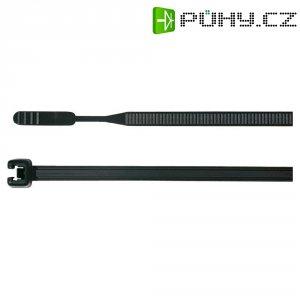 Stahovací pásky Q-serie HellermannTyton Q18L-W-BK-C1, 195 x 2,6 mm, 100 ks, černá