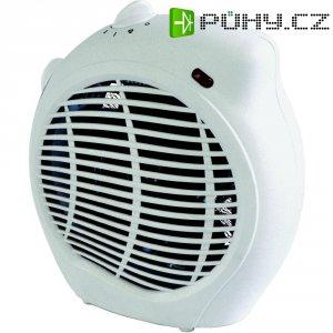 Topný ventilátor s termostatem Duracraft DF-130E, ventilace /1000/2000 W, bílá