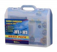 Žárovky 12V servisní box MEGA H1+H1+pojistky