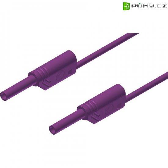 Měřicí kabel banánek 2 mm ⇔ banánek 2 mm SKS Hirschmann MVL S 100/1 Au, 1 m, fialová - Kliknutím na obrázek zavřete