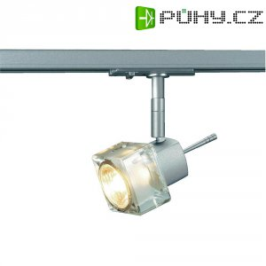Lištové halogenové svítidlo SLV Blox, 230 V, 50 W, 1fázové, GU10, stříbrná/šedá